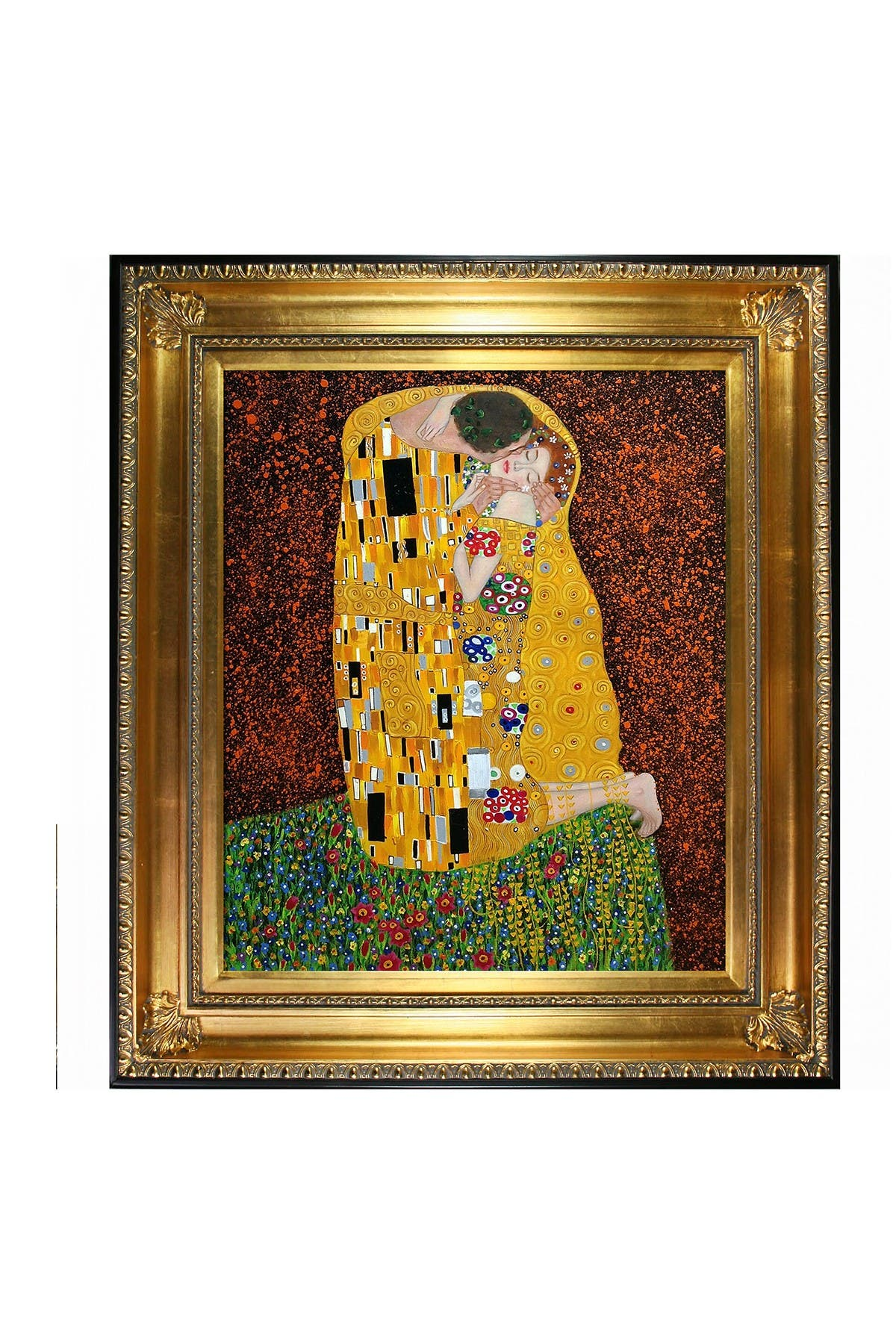 "Image of Overstock Art Gustav Klimt ""The Kiss Full View"" Framed Painting"
