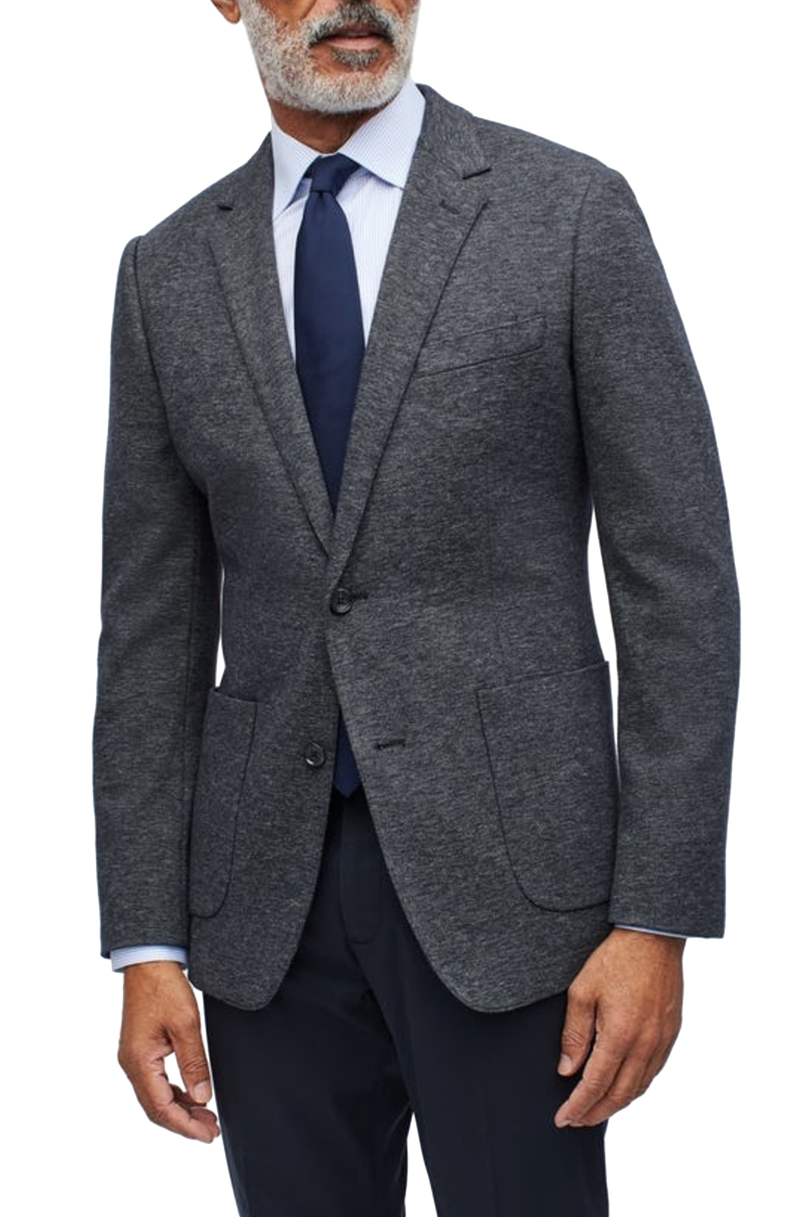 Slim Fit Knit Sport Coat