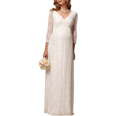 Tiffany Rose Chloe Lace Maternity Gown, (fits like 4-6 US) - White