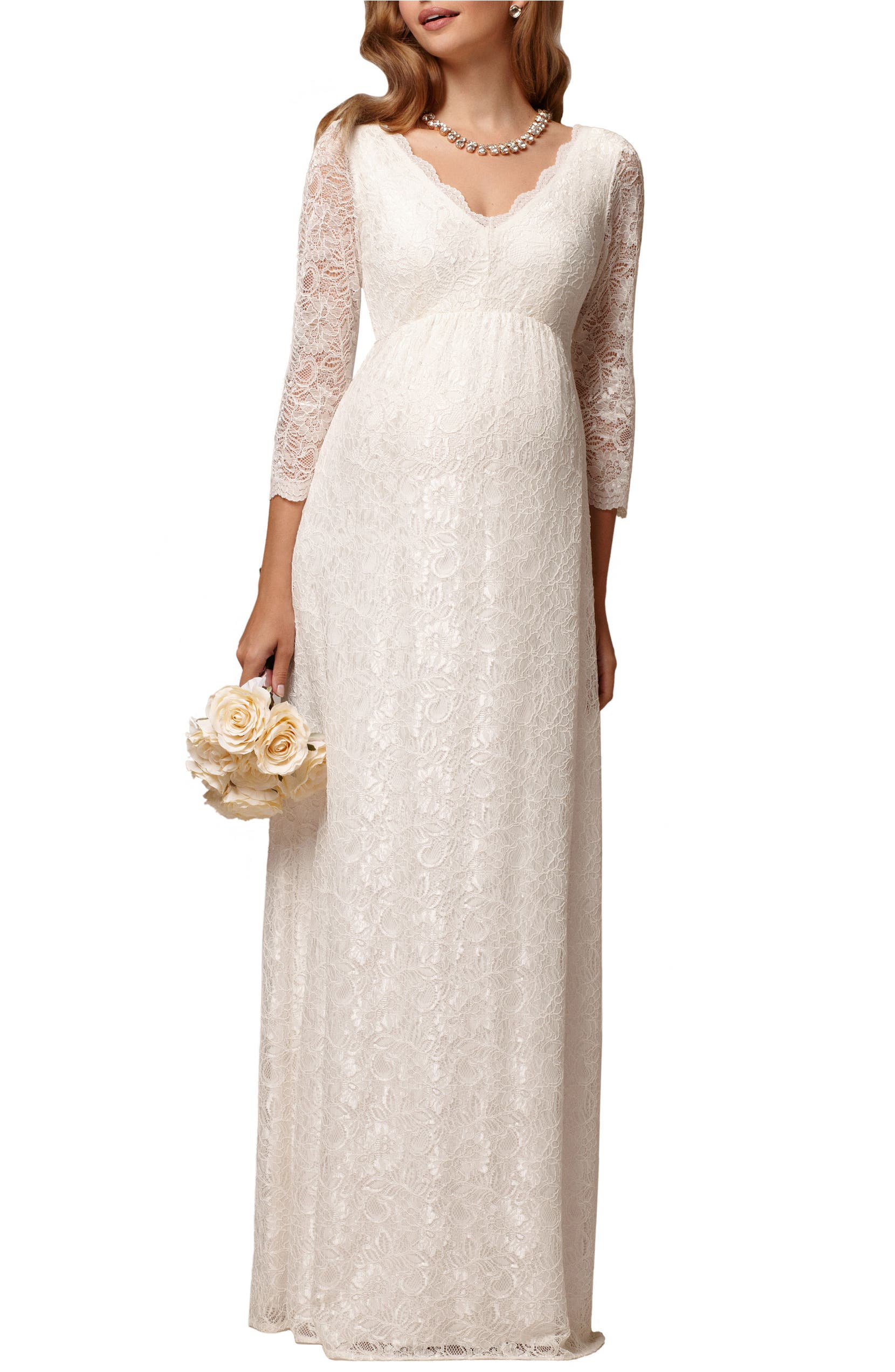 f7f0a3043b Chloe Lace Maternity Gown