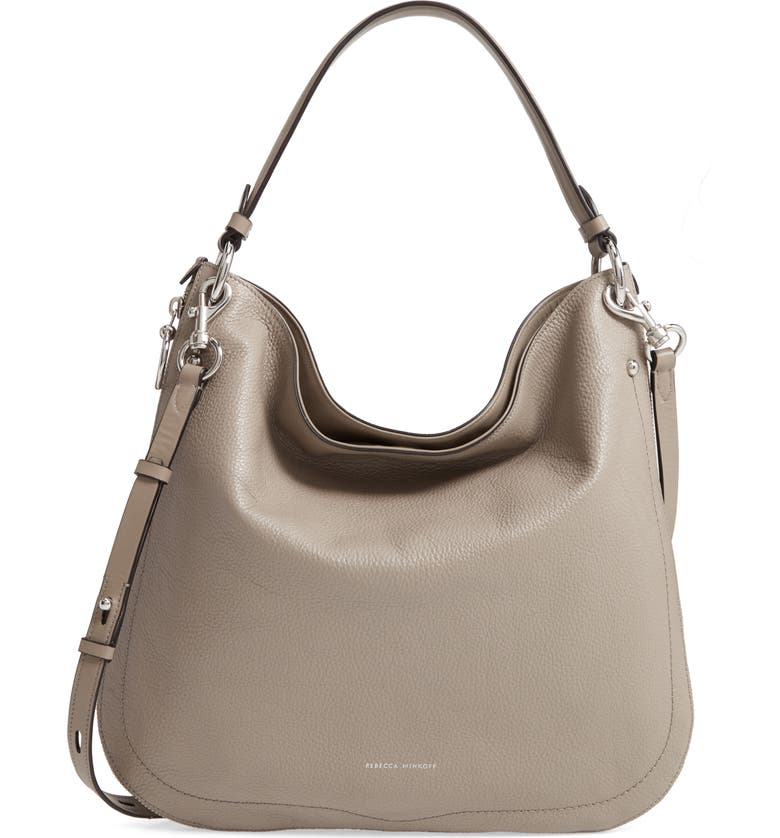 REBECCA MINKOFF Jody Convertible Leather Hobo Bag, Main, color, 020
