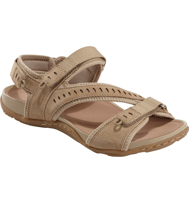 EARTH<SUP>®</SUP> Nevis Sandal, Main, color, LIGHT TAN NUBUCK LEATHER