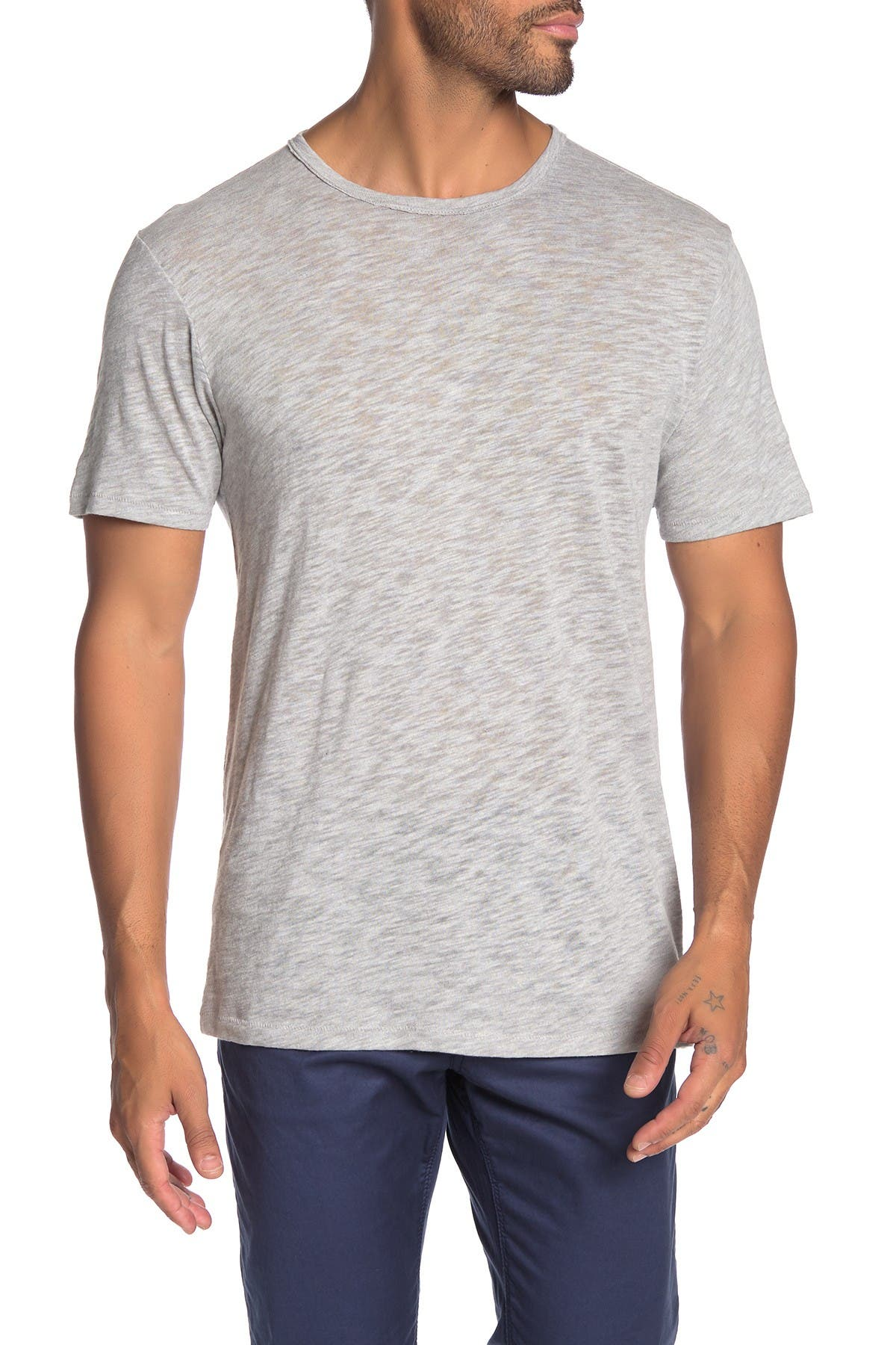 Image of Rag & Bone Core Crew Neck Slub T-Shirt