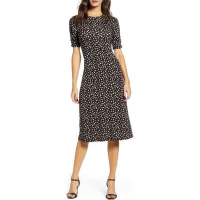 All In Favor Floral Print Midi Dress