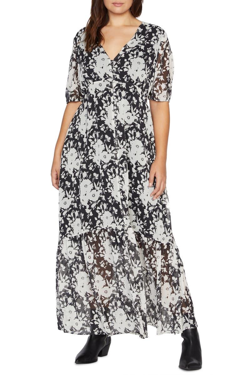 SANCTUARY Florence Floral Maxi Dress, Main, color, 009