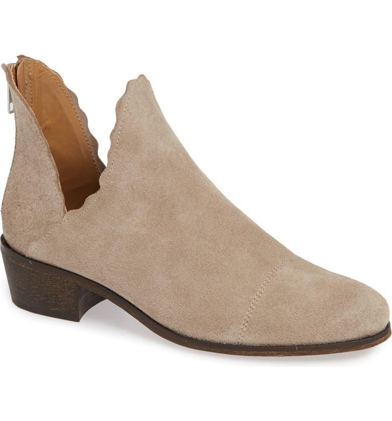 KLUB NICO Bae Scalloped Bootie, Main, color, SAND SUEDE