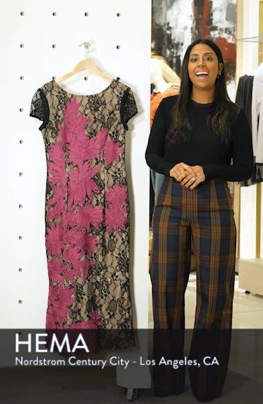 Soutache Embroidered Lace Midi Dress, sales video thumbnail