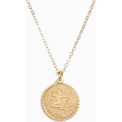 Ten79La Zodiac Coin Pendant Necklace