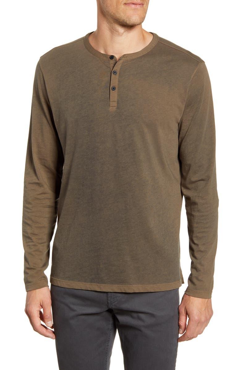 ROBERT BARAKETT Ontario Regular Fit Long Sleeve Henley, Main, color, OLIVE