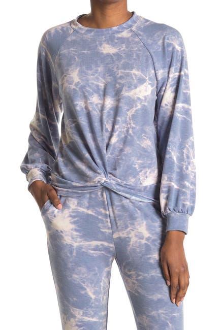 Image of Lush Tie-Dye Raglan Sleeve Twist Pullover