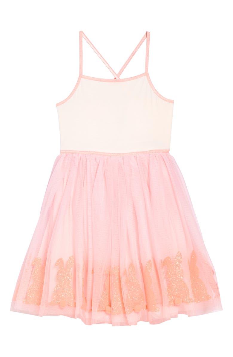 ZUNIE Bunny Boarder Glitter Sundress, Main, color, 650