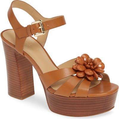 Michael Michael Kors Dalia Flower Platform Sandal, Brown