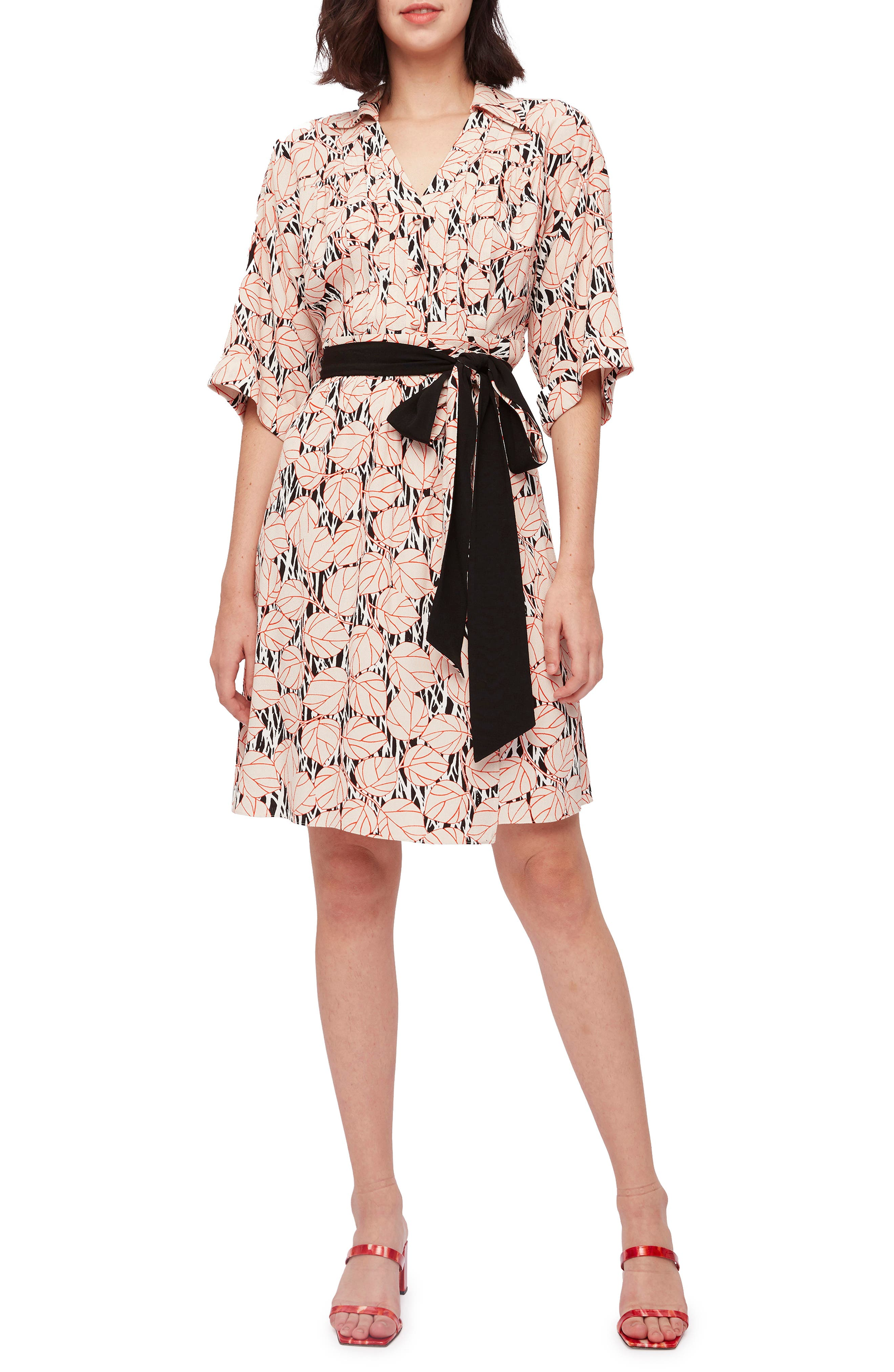 Christina Print Belted Dress