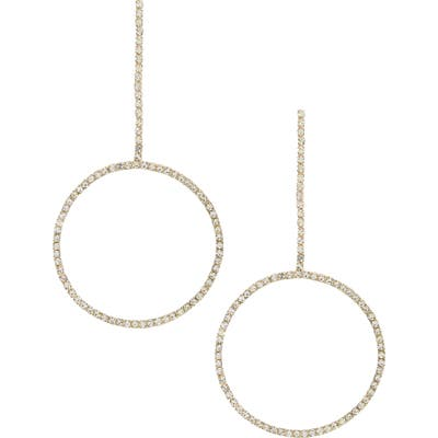 Ettika Crystal Chain Drop Earrings
