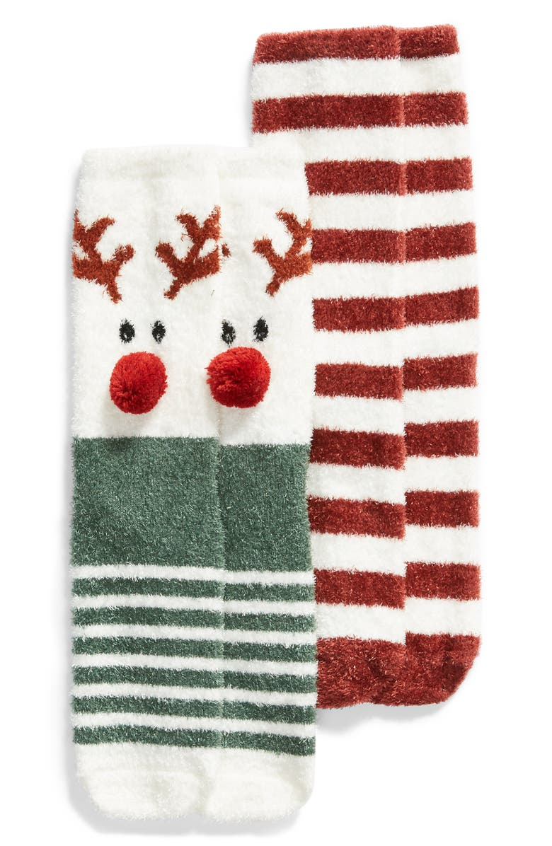 BP. 2-Pack Holiday Butter Crew Socks, Main, color, 250