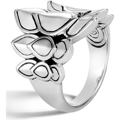 John Hardy Legends Naga Silver Saddle Ring