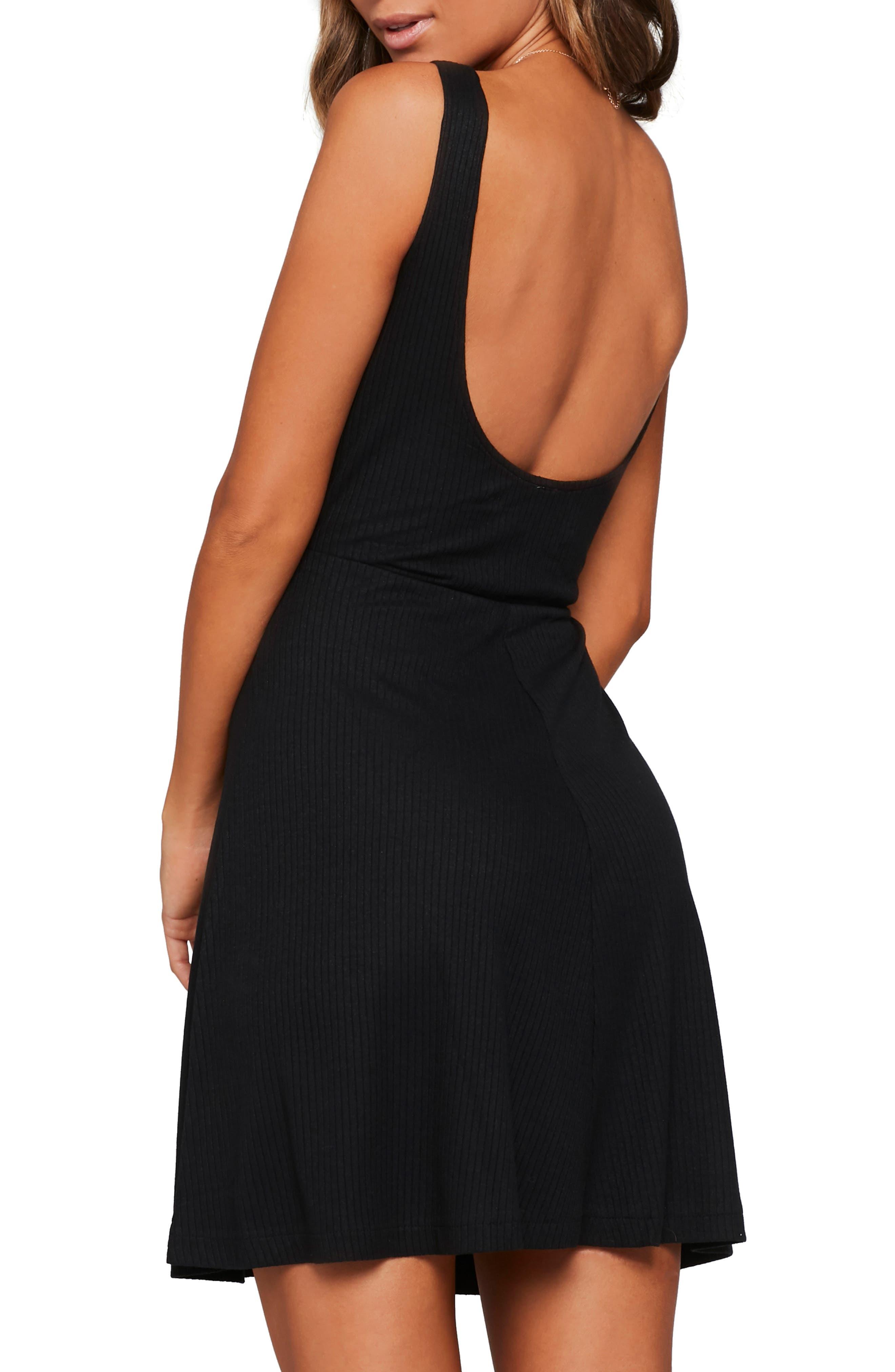 ,                             Topanga Ribbed Cover-Up Dress,                             Alternate thumbnail 2, color,                             BLACK