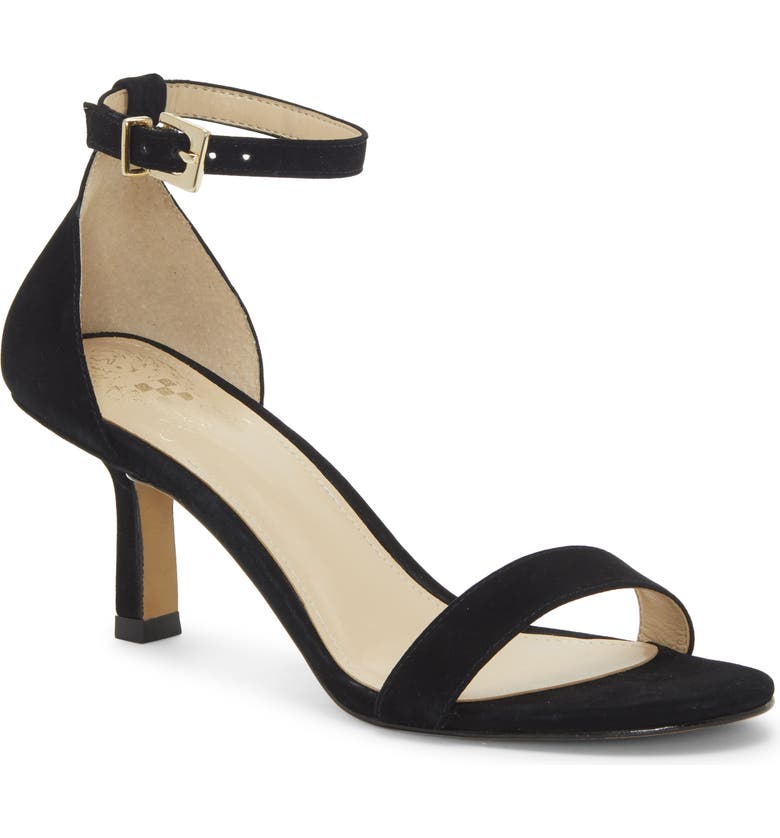 VINCE CAMUTO Rondera Sandal, Main, color, BLACK/ BLACK NUBUCK LEATHER