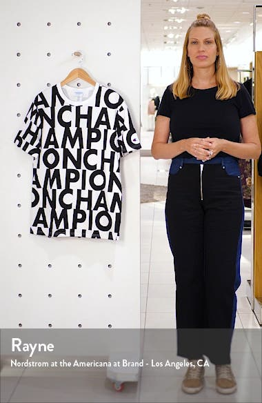 Big Block Script Heritage Crewneck T-Shirt, sales video thumbnail
