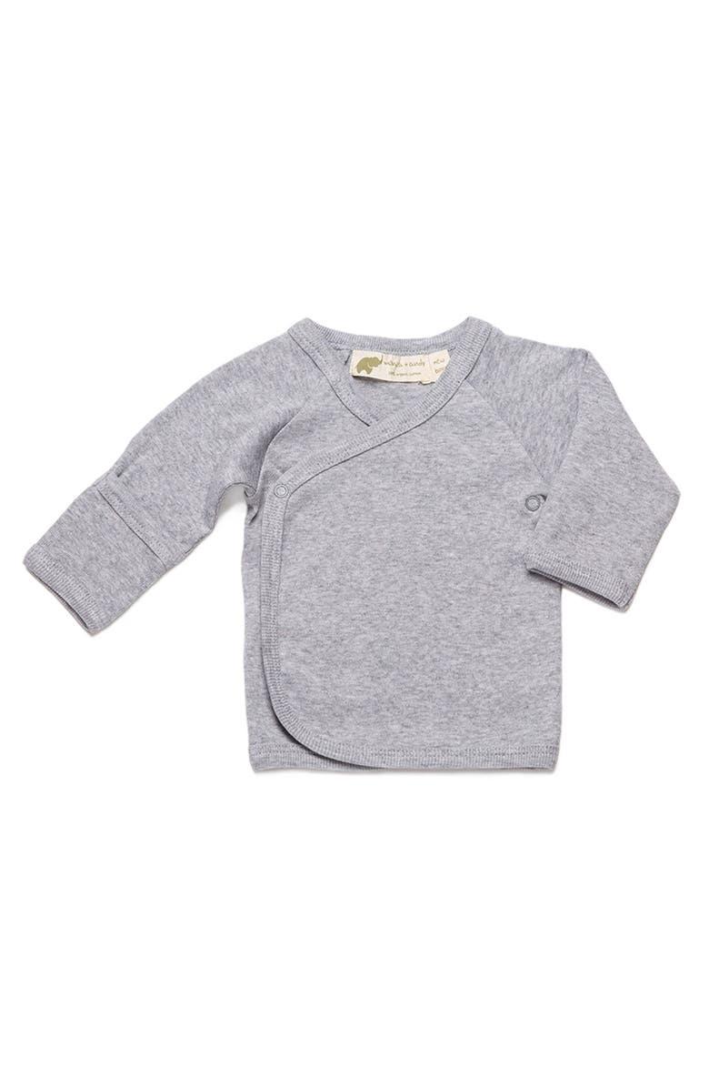 MONICA + ANDY Hello Baby Organic Cotton Top, Main, color, 020