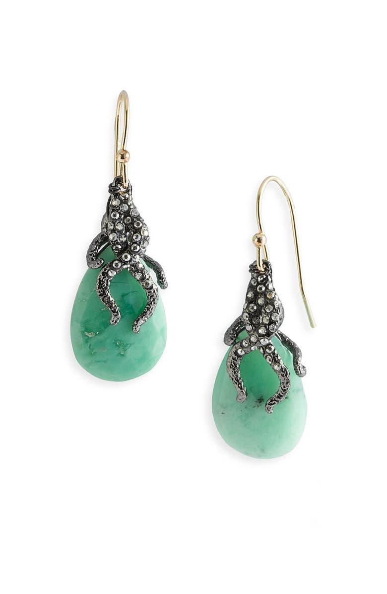 ALEXIS BITTAR 'Elements' Vine Capped Earrings, Main, color, 020