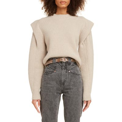 Isabel Marant Layered Cashmere & Wool Sweater, US - Beige