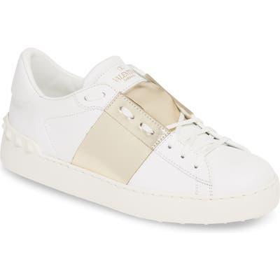 Valentino Garavani Metallic Band Sneaker, White
