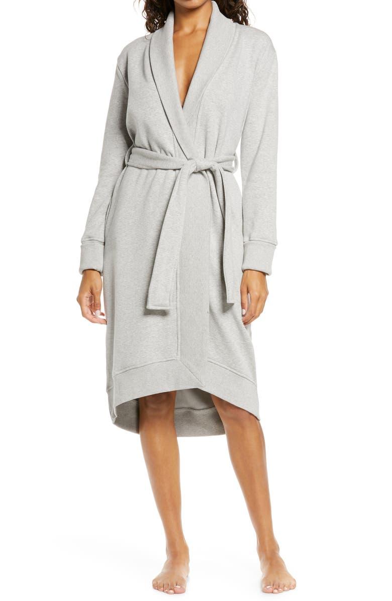 UGG<SUP>®</SUP> UGG Karoline Fleece Robe, Main, color, SEAL HEATHER