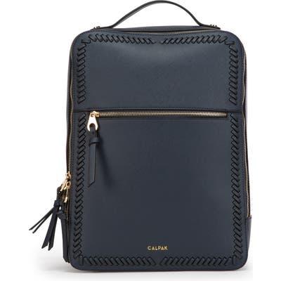 Calpak Kaya Faux Leather Laptop Backpack - Blue