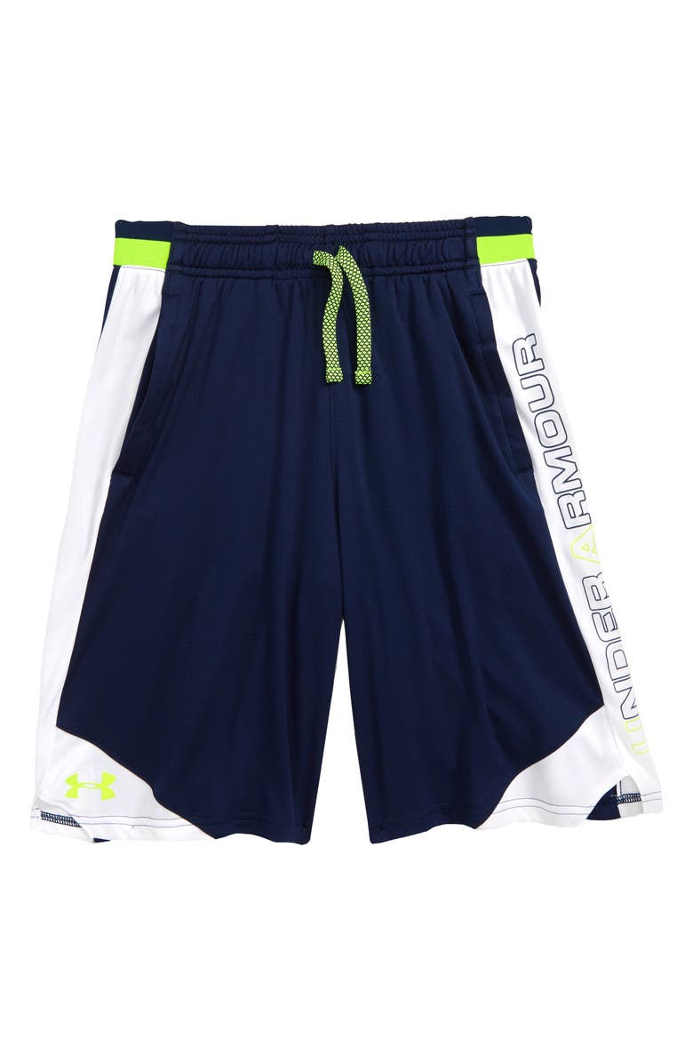 UNDER ARMOUR Stunt 2 Shorts, Main, color, ACADEMY/ HIGH-VIS YELLOW