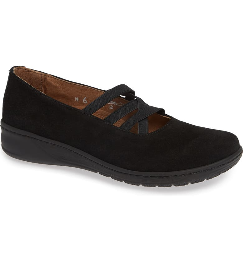 DAVID TATE Marta Flat, Main, color, BLACK SUEDE
