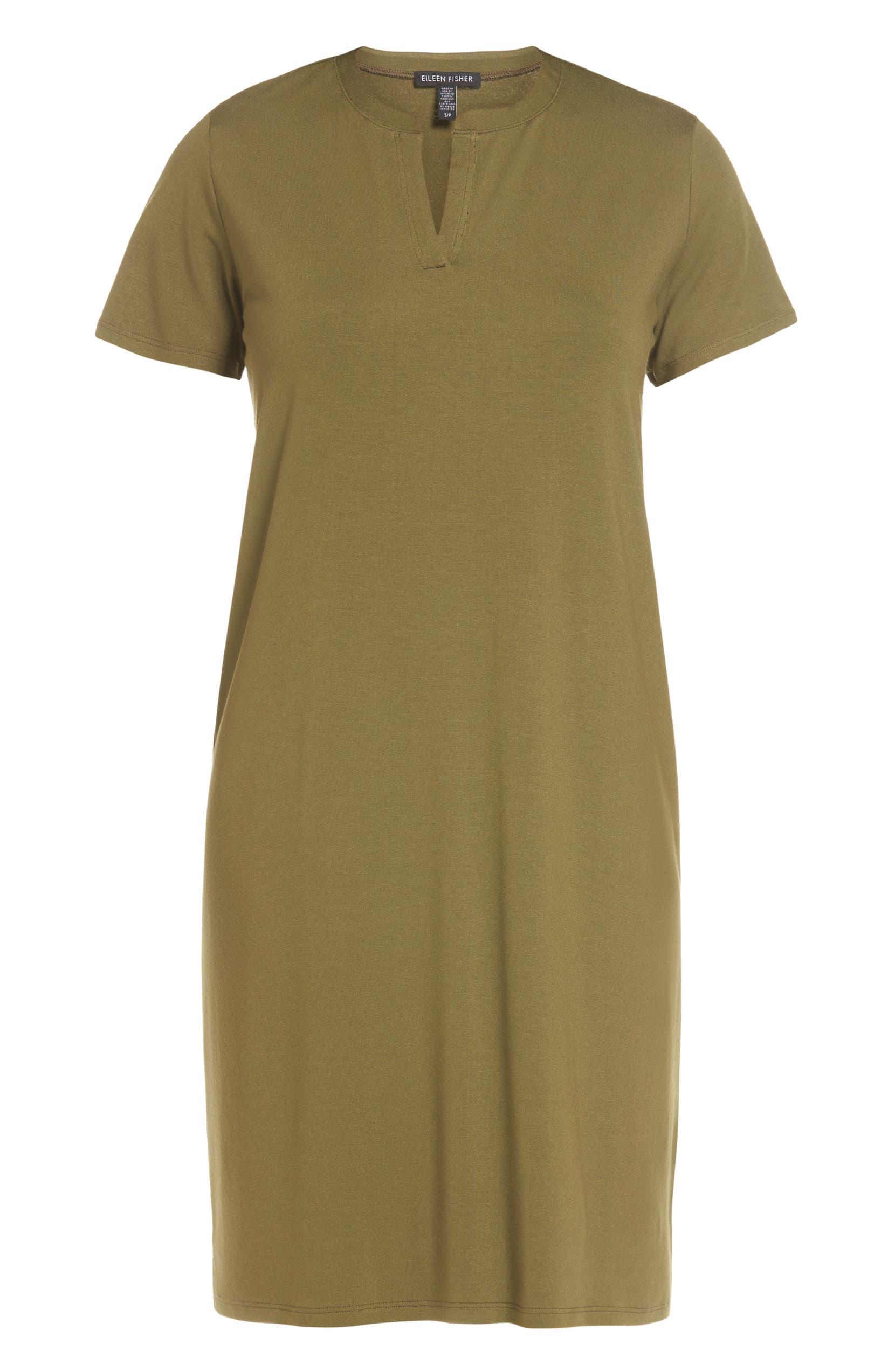 dd475854f7ca Eileen Fisher Mandarin Collar T-Shirt Dress (Regular & Petite) (Nordstrom  Exclusive) | Nordstrom