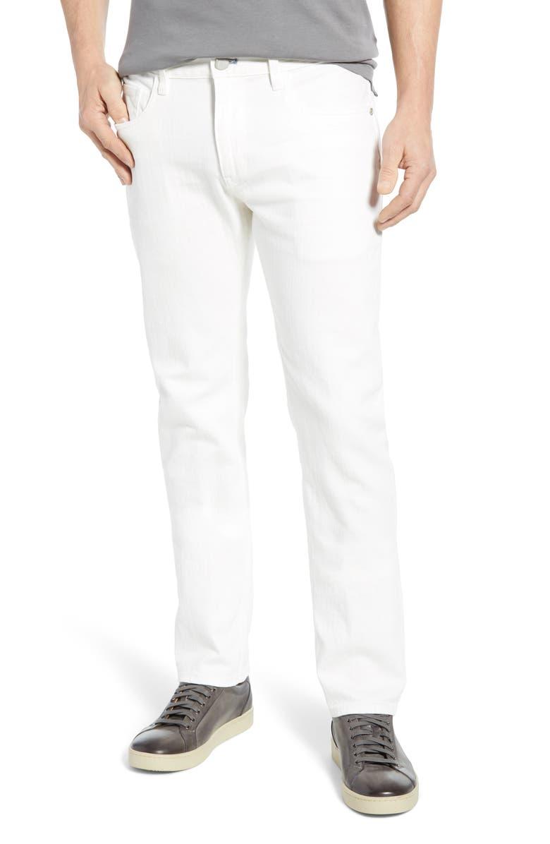 ROBERT GRAHAM Curtis Straight Leg Jeans, Main, color, WHITE