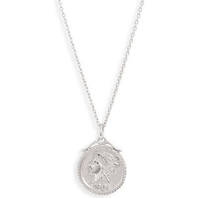 Sterling Forever Crown Jewel Coin Pendant Necklace