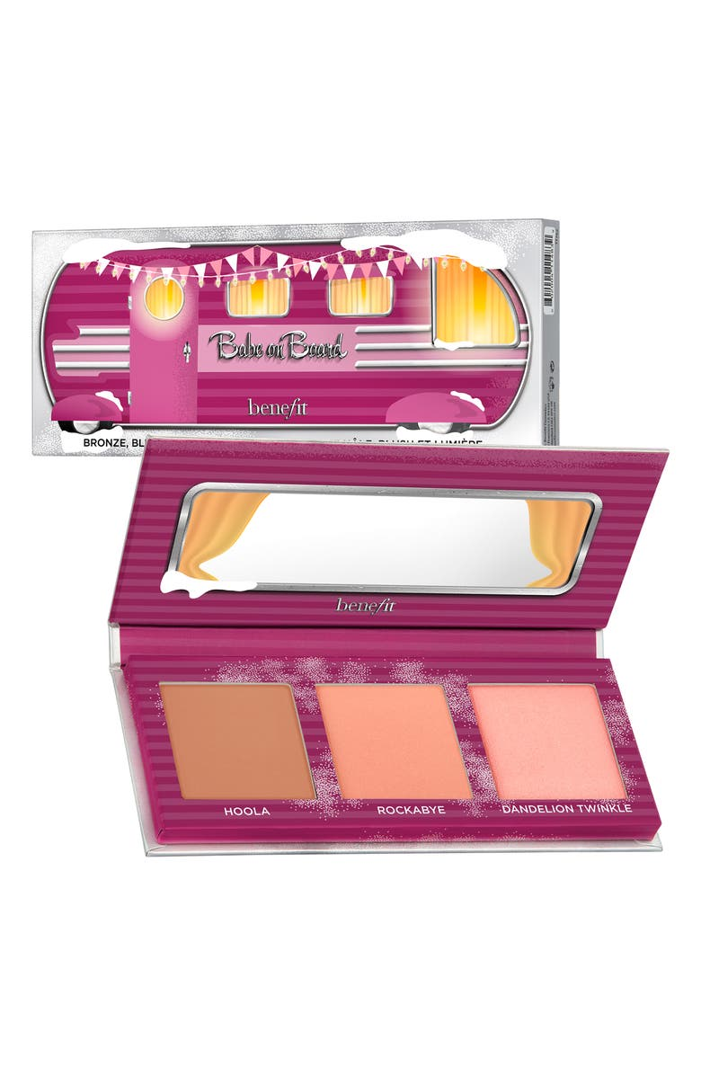 BENEFIT COSMETICS Benefit Babe On Board Mini Blush, Bronzer & Highlighter Palette, Main, color, NO COLOR