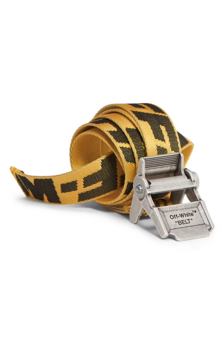 OFF-WHITE 2.0 Industrial Belt, Main, color, YELLOW BLACK