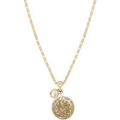 Ettika Coin & Crystal Pendant Necklace