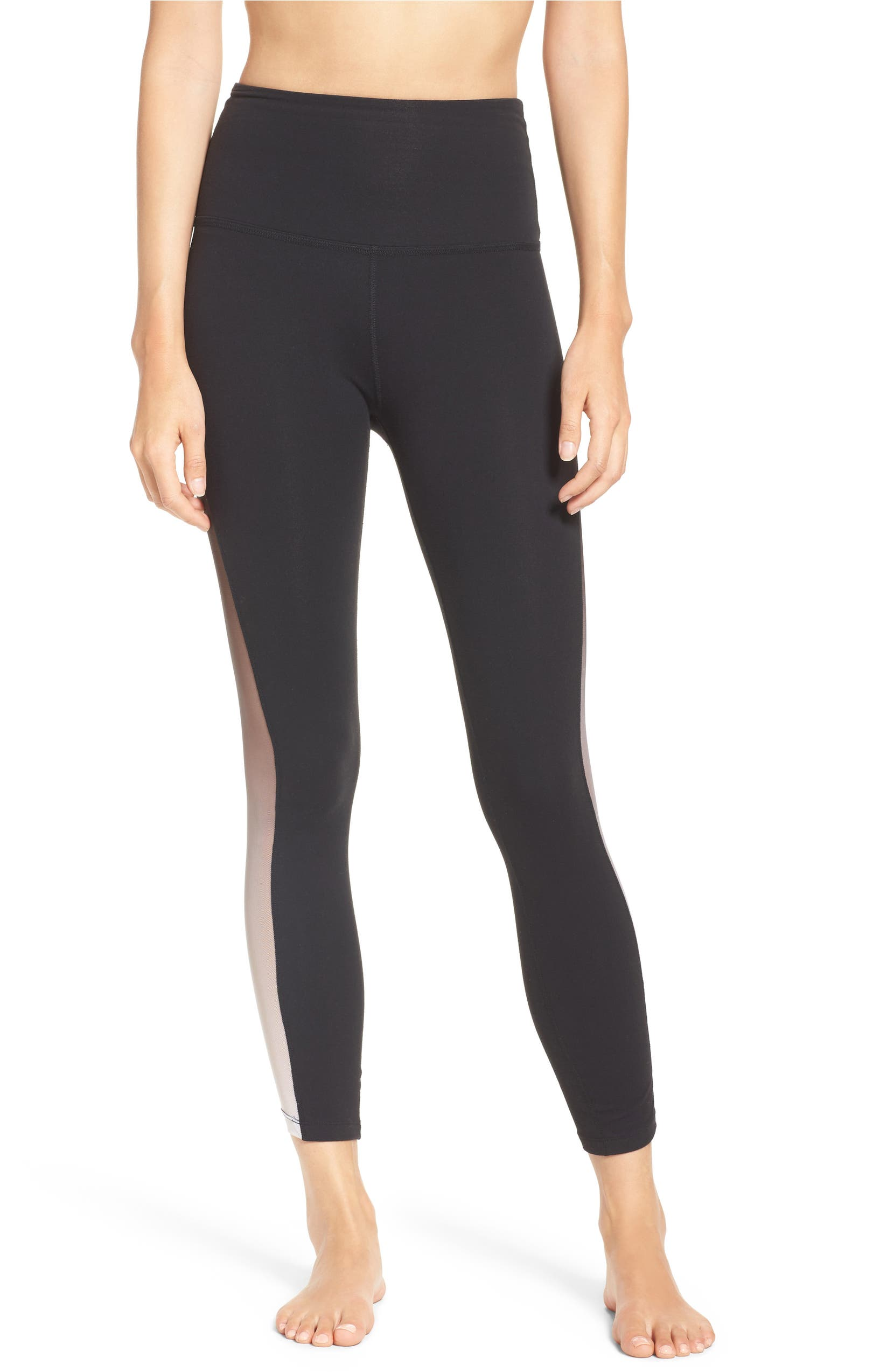 fb6cc38c Beyond Yoga Mesh Inset High Waist Leggings | Nordstrom