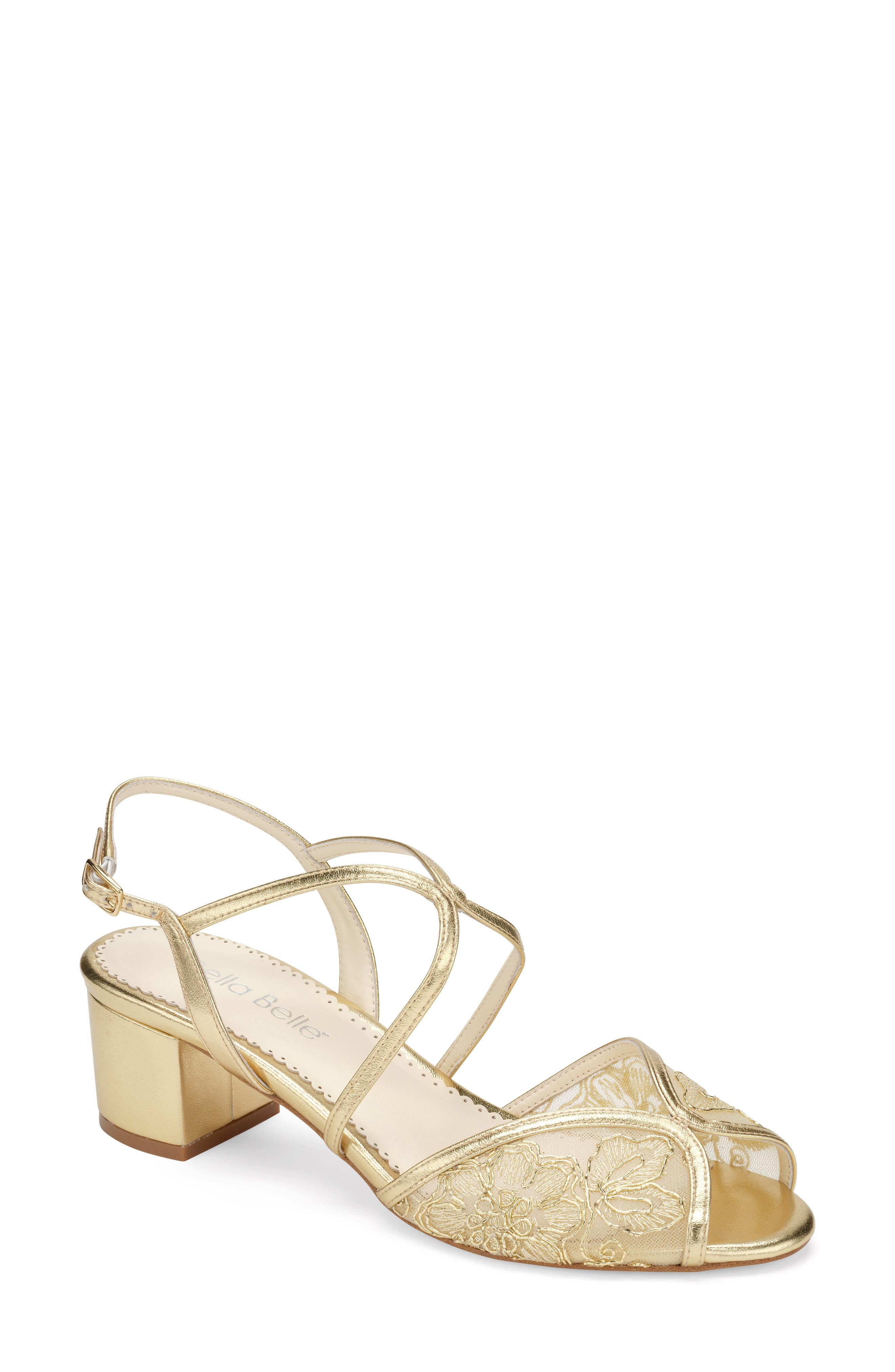 Lace Block Heel Sandal