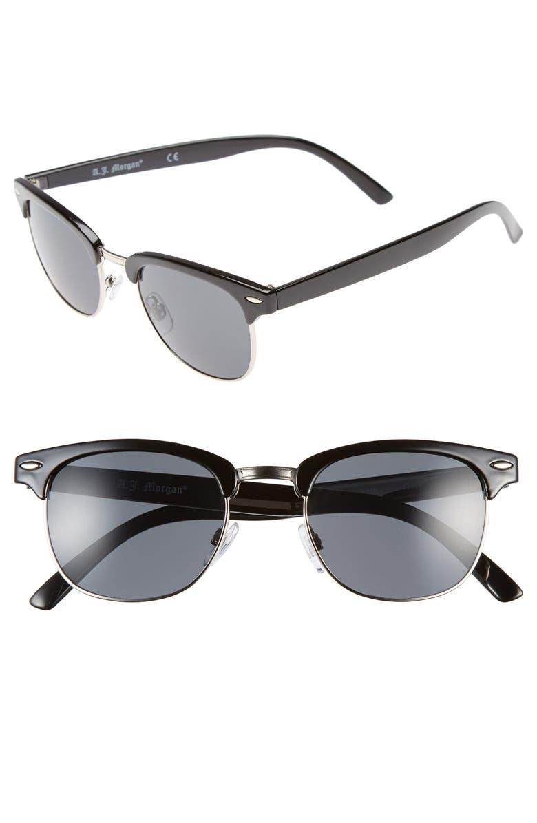 A.J. MORGAN 52mm 'Soho' Sunglasses, Main, color, 001