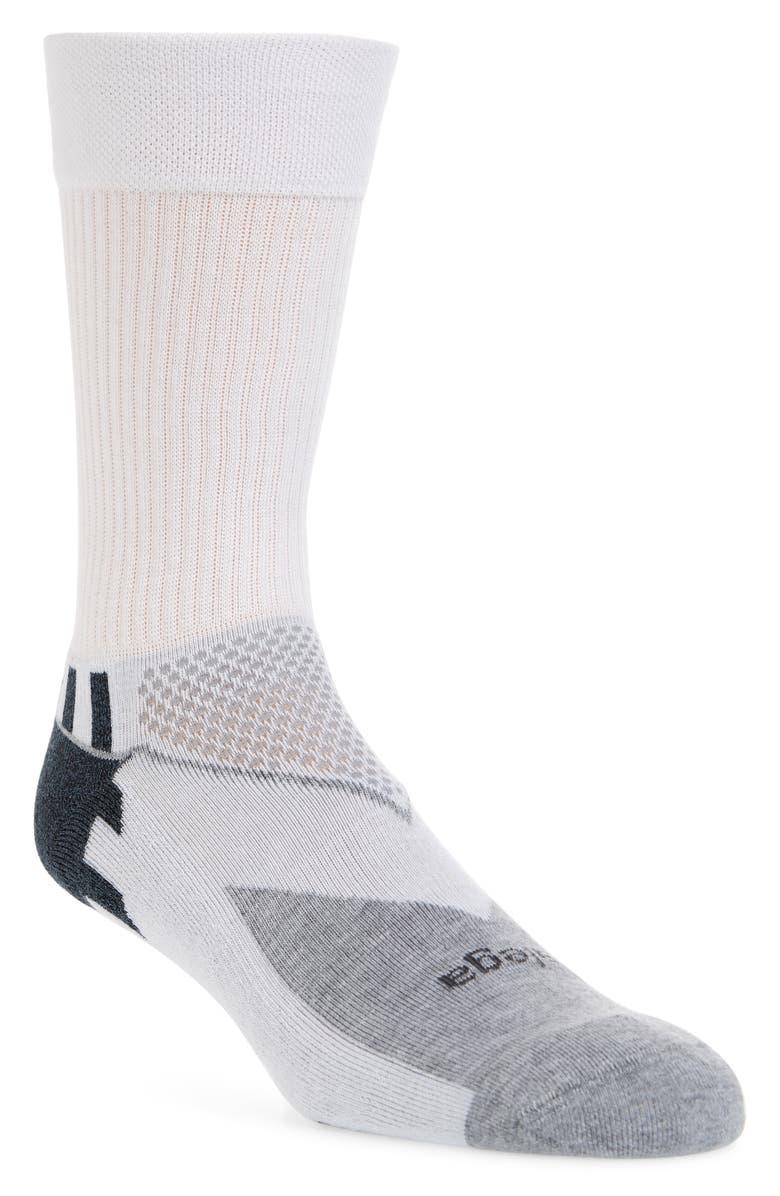 BALEGA Enduro Socks, Main, color, WHITE/ GREY HEATHER