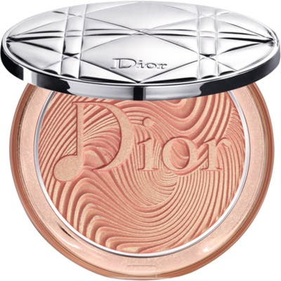 Dior Glow Vibes Diorskin Nude Luminizer Powder Highlighter - 2 Coral Vibes