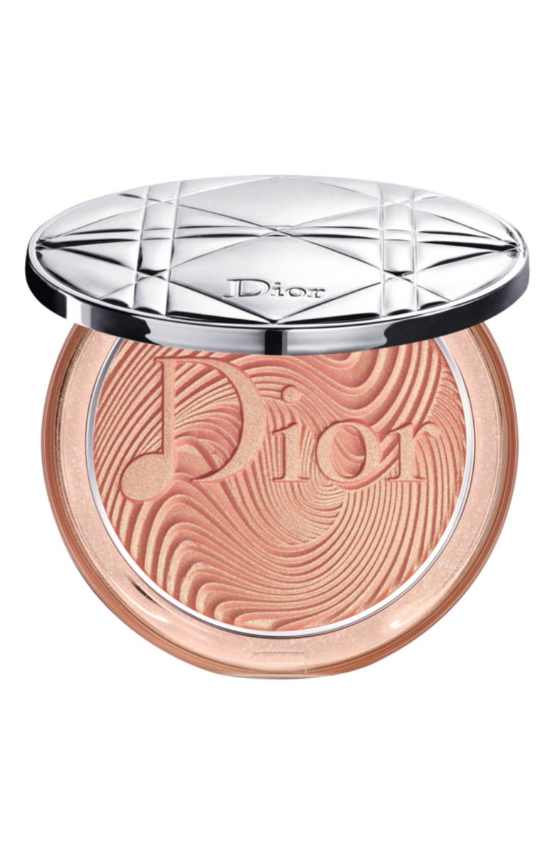 DIOR Glow Vibes Diorskin Nude Luminizer Powder Highlighter, Main, color, 2 CORAL VIBES