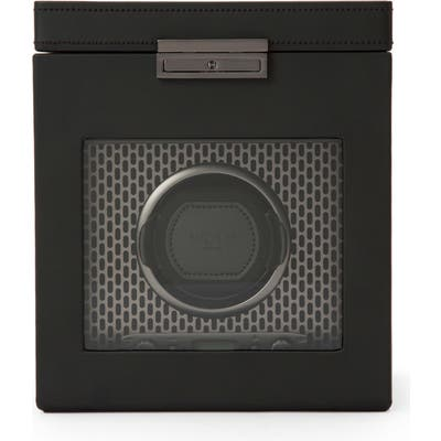 Wolf Axis Single Watch Winder & Case - Black