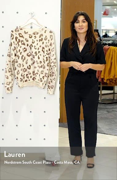 Leopard Print Cotton Sweater, sales video thumbnail