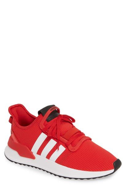 U Path Run Sneaker in Scarlet White Shock Red