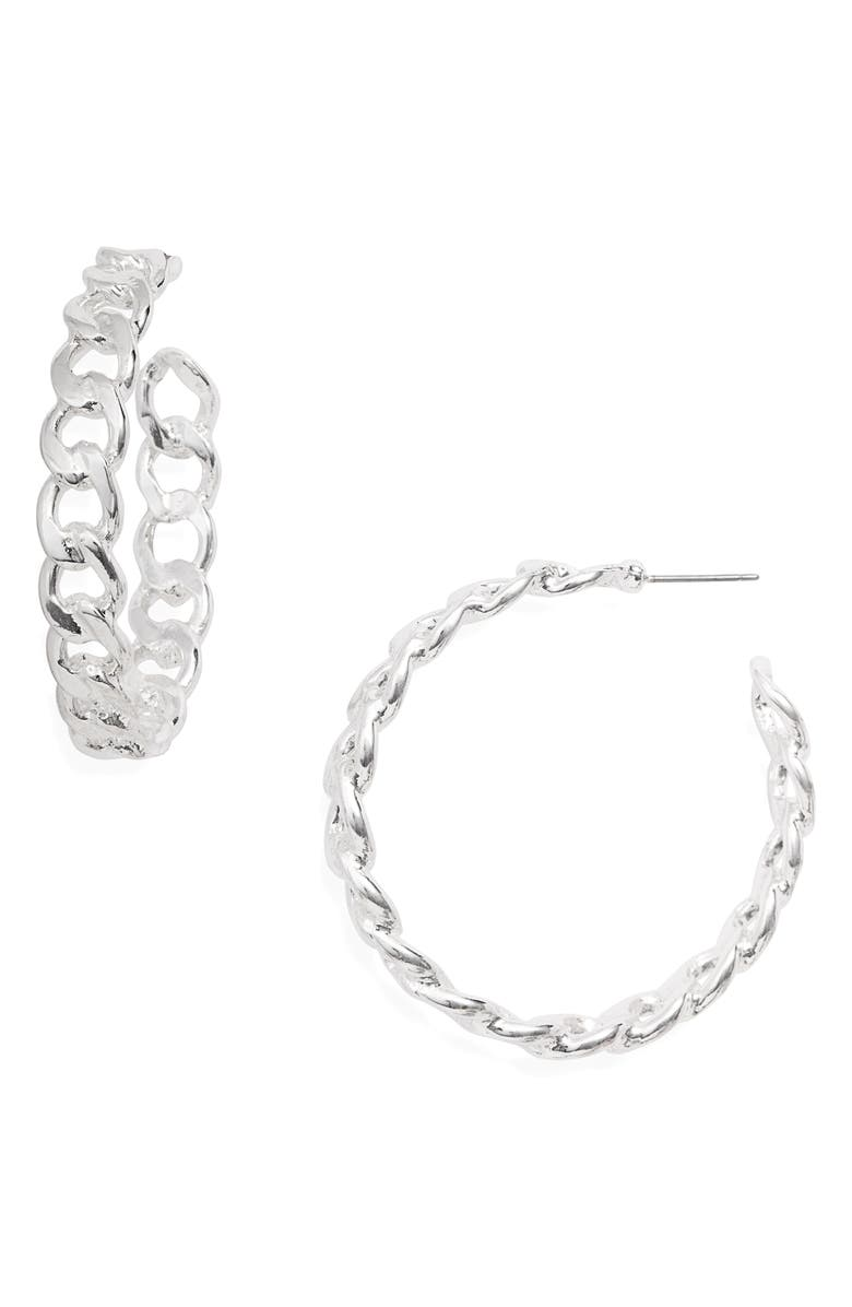 8 OTHER REASONS Chain Hoop Earrings, Main, color, 040