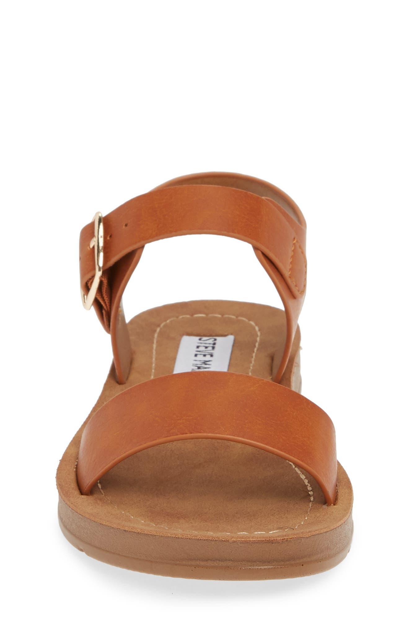 Steve Madden Kids' Probler Platform Sandal In Beige/khaki