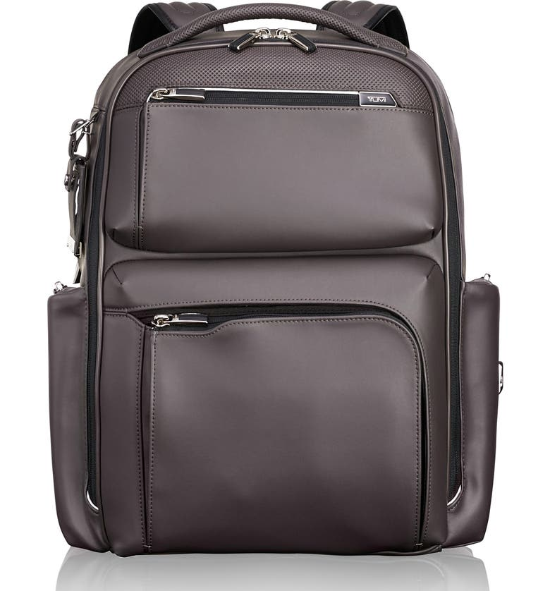 TUMI Arrivé - Bradley Leather Backpack, Main, color, 020