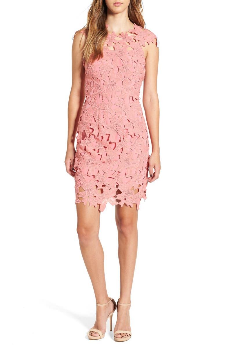 GLAMOROUS Crochet Body-Con Dress, Main, color, 650